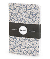 Word. Notebooks Blue Floral 3 Pack Notebook