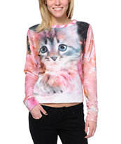 Workshop Cloudy Cosmo Cats Sublimated Crew Neck Sweatshirt