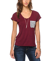 Workshop Courtney Tribal Pocket Dolman Tee