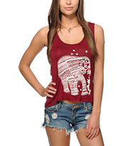Workshop Elephant Chiffon & Mesh Back Tank Top