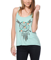 Workshop Floral Dreamcatcher Chiffon Back Tank Top