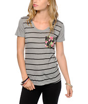 Workshop Floral Pocket Stripe T-Shirt