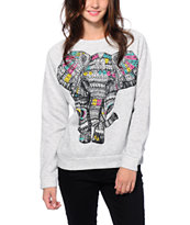 Workshop Geo Elephant Crew Neck Sweatshirt