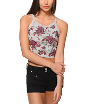 Workshop Kylie Floral Crop Tank Top