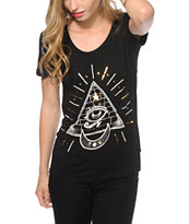 Workshop Pyramid Eye Scoop Neck T-Shirt