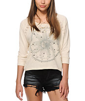 Workshop Sophia Lace Star Crew Neck Sweatshirt