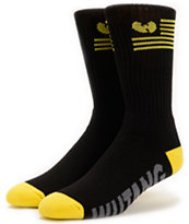 Wu-Tang Wu Flag Black Crew Socks