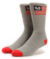 Wu-Tang Wu Flag Grey Crew Socks