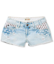 YMI Americana Denim Cut-Off Shorts