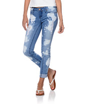 YMI Bleach Medium Blue Skinny Jeans
