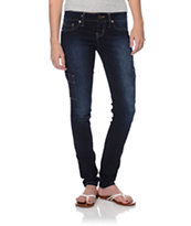 YMI Cargo Dark Blue Wash Skinny Jeggings