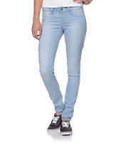 YMI Cargo Light Blue Wash Skinny Jeggings
