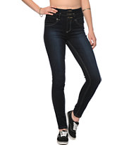 YMI Dark Wash High Waisted Skinny Jeans