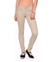 YMI Wanna Betta Butt Khaki Twill Skinny Jeans