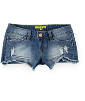 YMI Wanna Betta Butt Medium Wash Denim Shorts