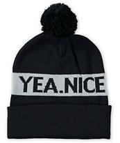Yea.Nice Black Pom Beanie