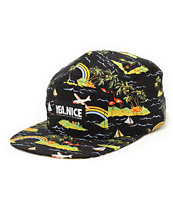 Yea.Nice Jungles Black 5 Panel Hat