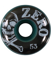 Zero Skull & Bones 53mm Green Skateboard Wheels