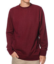 Zine 2 Live Burgundy Speckle Crew Neck Sweatshirt