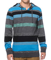 Zine Anyway Stripe Hooded Henley Shirt