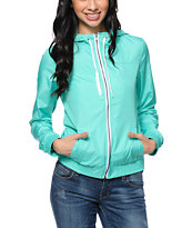 Zine Aqua Green Windbreaker Jacket