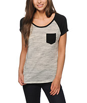 Zine Bartlett Heather Grey & Black T-Shirt