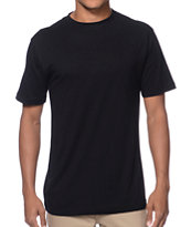 Zine Baseline Black Crew Neck T-Shirt
