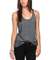 Zine Black Speckle Tank Top