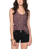 Zine Blackberry Speckle Tank Top