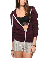 Zine Blackberry Zip Up Hoodie