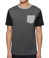 Zine Block Head 3 Tone Pocket T-Shirt