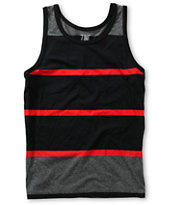 Zine Boys Ryder Black & Red Tank Top