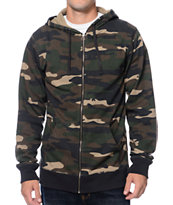 Zine Camo Me Bad Zip Up Hoodie
