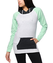 Zine Clarissa Mint & Grey Colorblock Hoodie
