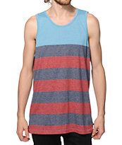 Zine Complete Red, Navy & Blue Stripe Tank