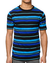 Zine Conway Blue & Navy Stripe Tee Shirt