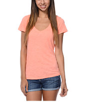 Zine Coral Beta V-Neck Tee Shirt