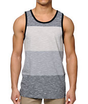 Zine Cube Black, Charcoal, & Grey Stripe Tank Top