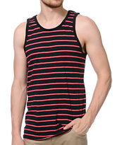 Zine Dantes Red & Black Stripe Tank