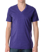 Zine Deuce Grape V-Neck T-Shirt