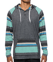Zine Fave Stripe Hooded Henley Shirt
