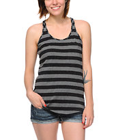Zine Girls Black & Charcoal Confetti Racerback Tank Top