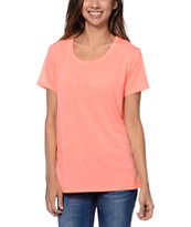 Zine Girls Bright Coral Boyfriend Tee Shirt