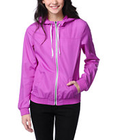 Zine Girls Bright Purple Windbreaker Jacket