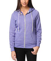 Zine Girls Deep Blue Lavender Purple Zip Up Hoodie