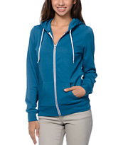 Zine Girls Lyons Blue Zip Up Hoodie