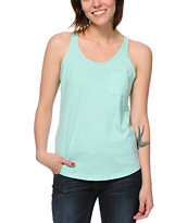 Zine Girls Mint Confetti Racerback Tank Top