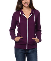 Zine Girls Potent Purple Zip Up Hoodie