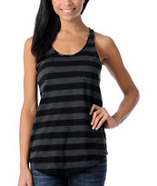 Zine Girls Racerback Black Stripe Tank Top