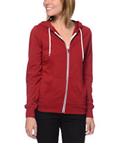 Zine Girls Rio Red Zip Up Hoodie